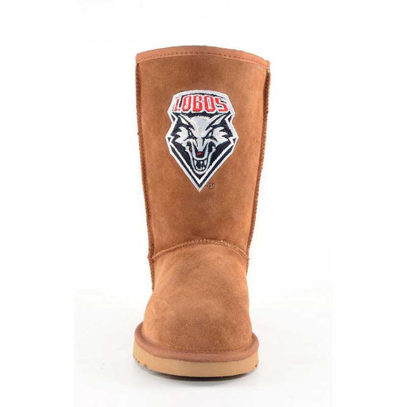 U Of New Mexico Hickory Ladies Lambskin Roadie Boot by Gameday Boots