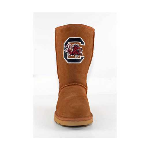 U Of S Carolina Hickory Ladies Lambskin Roadie Boot by Gameday Boots