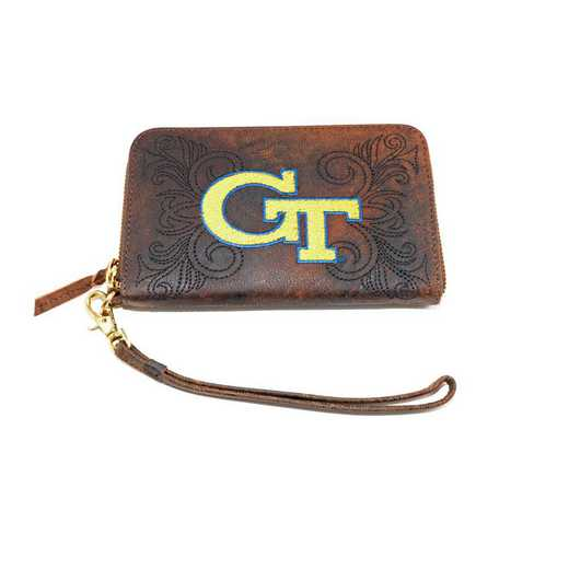 GT-WR037-1: GEORGIA TECH GAMEDAY BOOTS WRISTLET