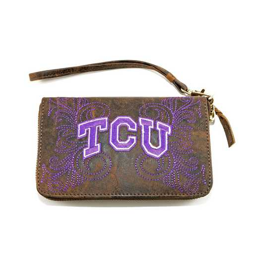 TCU-WR062-2: TEXAS CHRISTIAN GAMEDAY BOOTS WRISTLET