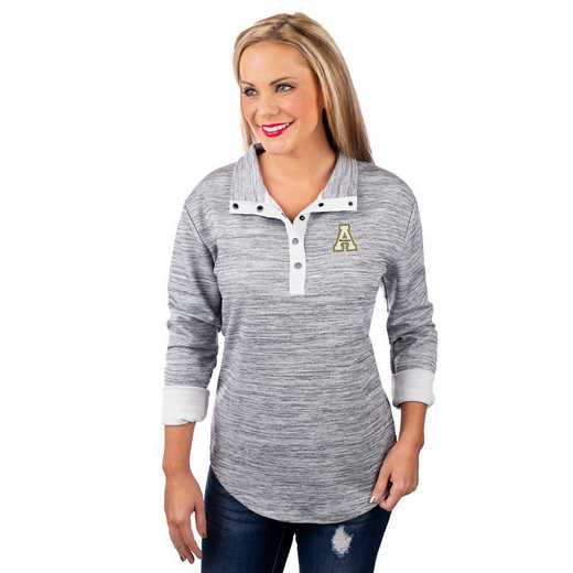 """Appalachian State Mountaineers """"In a Snap"""" Quarter Button Pullover by Gameday Couture"""