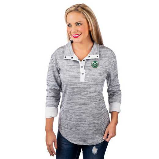 "Colorado State Rams ""In a Snap"" Quarter Button Pullover by Gameday Couture"