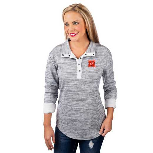 "Nebraska Cornhuskers ""In a Snap"" Quarter Button Pullover by Gameday Couture"