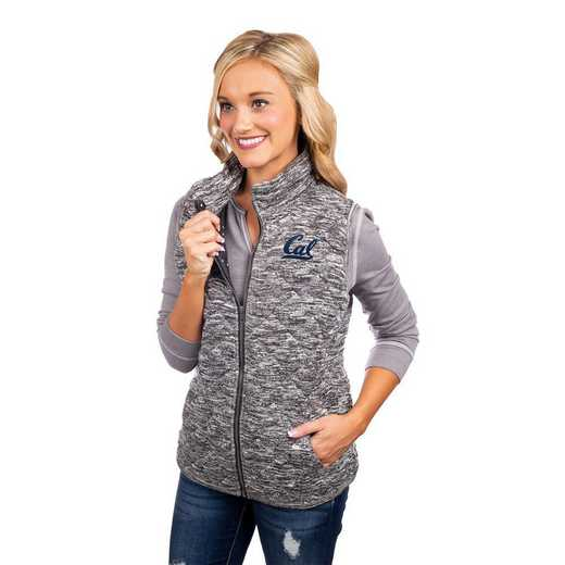 """California Golden Bears """"City Chic"""" Quilted Vest by Gameday Couture"""