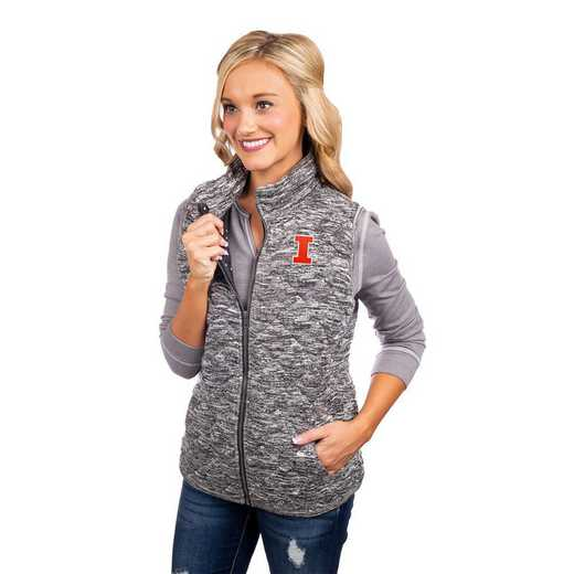 """Illinois Fighting Illini """"City Chic"""" Quilted Vest by Gameday Couture"""