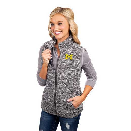 """Michigan Wolverines """"City Chic"""" Quilted Vest by Gameday Couture"""