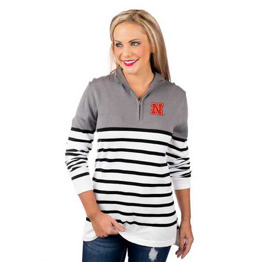 "Nebraska Cornhuskers ""Perfectly Prepped"" Quarter Zip Pullover by Gameday Couture"