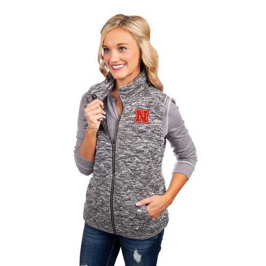"""Nebraska Cornhuskers """"City Chic"""" Quilted Vest by Gameday Couture"""