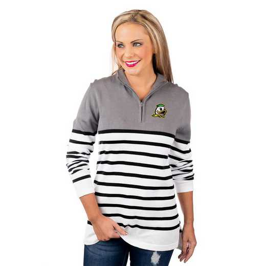 "Oregon Ducks ""Perfectly Prepped"" Quarter Zip Pullover by Gameday Couture"