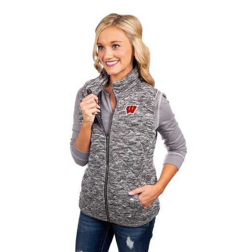 "Wisconsin Badgers ""City Chic"" Quilted Vest by Gameday Couture"
