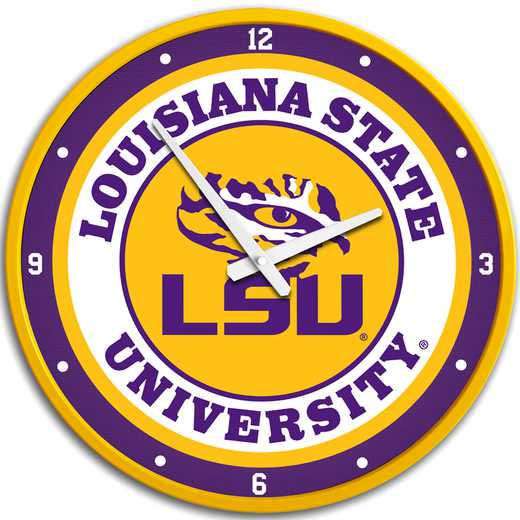 "LS-510-01: GI 17"" Team Disc Wall Clock-LSU-Primary Logo,LSU"