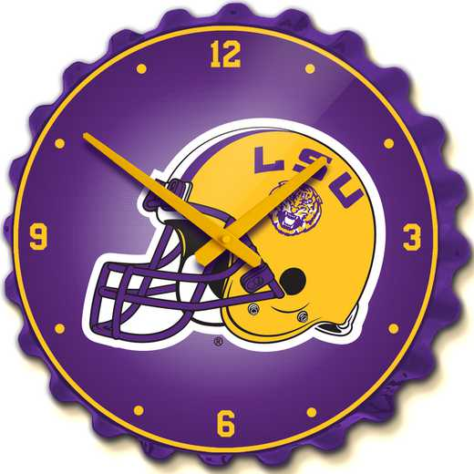 LS-540-02: GI Team Spirit Cap Wall Clock-LSU-Helmet,LSU