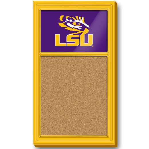 LS-640-01: GI Team Board Corkboard-LSU-Primary Logo-Gold