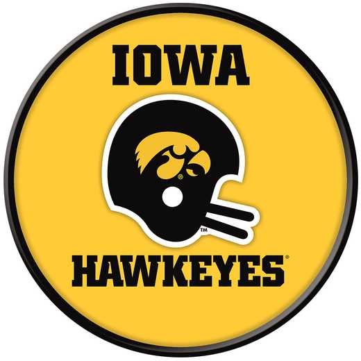 "IA-230-03: GI 17"" Team Disc Wall Sign-Helment Vintage, Iowa"