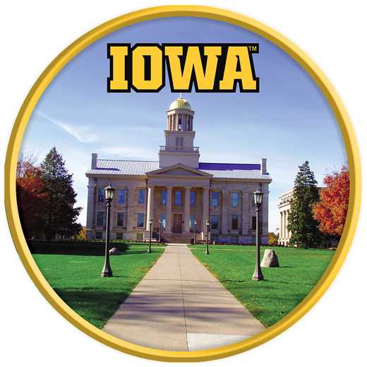 "IA-230-05: GI 17"" Team Disc Wall Sign-Old Capitol, Iowa"