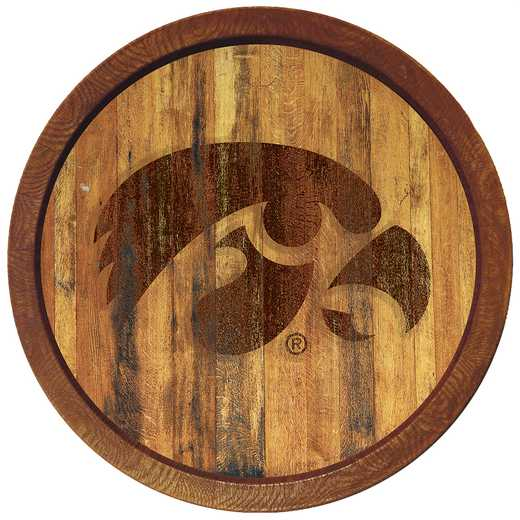 "IA-240-01: GI 20"" Barrel Team Logo Wall Sign-Tigerhawk-Branded, Iowa"