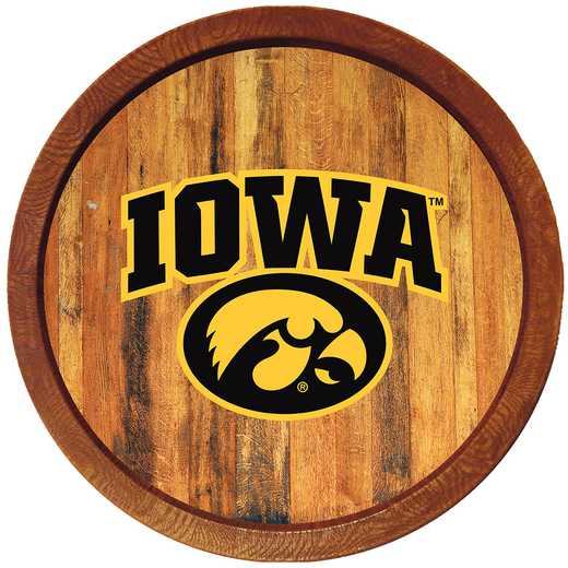 "IA-240-02: GI 20"" Barrel Team Logo Wall Sign-Tigerhwak-Color, Iowa"