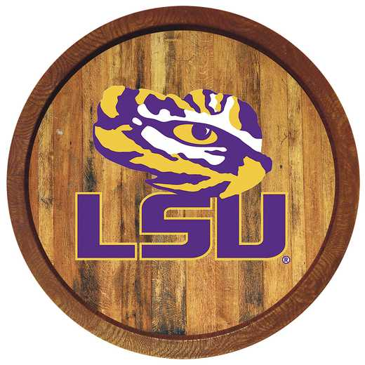 "LS-240-02: GI 20"" Barrel  Logo Wall Sign-LSU-Primary Logo-Color' LSU"