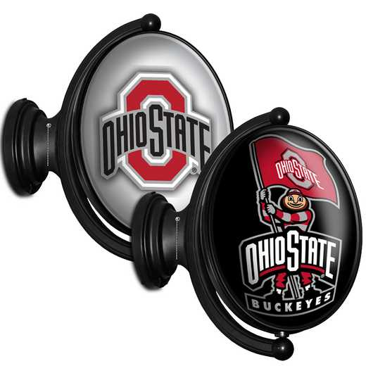 OS-125-03: GI Rotating  -Oval-Bubble-Ohio State-2 Sided, Ohio St