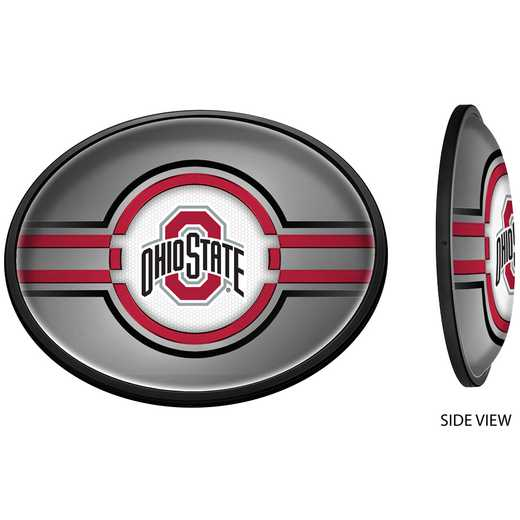 OS-140-02: GI Slimline  - Oval-Primary Logo on Silver , Ohio St