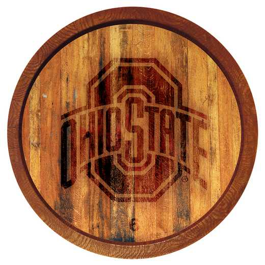 "OS-240-02: GI 20"" Barrel  Wall Sign-Primary Logo 1 Color, Ohio St"