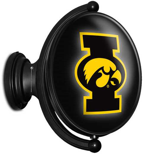 IA-125-01: GI Rotating  Wall Sign-Oval-Bubble-Tigerhawk, Iowa