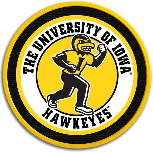 "IA-230-02: GI 17"" Team Disc Wall Sign-Herky, Iowa"