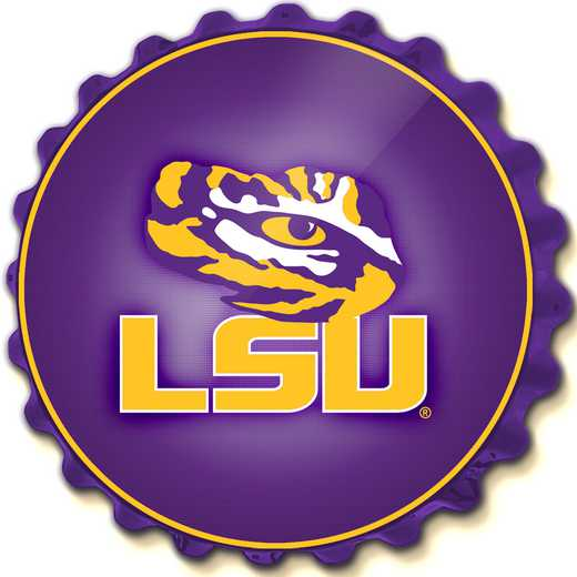 LS-210-01: GI Team Spirit Cap Wall Sign-LSU-Primary Logo' LSU