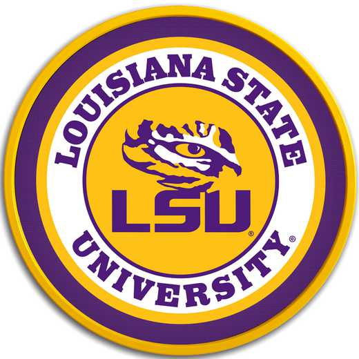 "LS-230-01: GI 17"" Team Disc Wall Sign-LSU-Primary Logo' LSU"