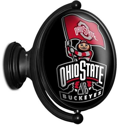 OS-125-01: GI Rotating  - Oval- Bubble-Brutis Black , Ohio St