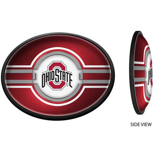 OS-140-01: GI Slimline  - Oval-Primary Logo on Red , Ohio St