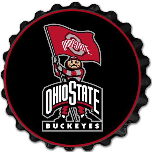 OS-210-02: GI Team Spirit  Cap Wall Sign-Brutis on Black, Ohio St