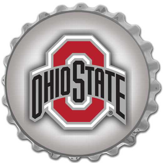 OS-210-04: GI Team Spirit  Cap Wall Sign-Primary Logo Silver , Ohio St