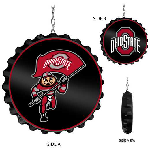 OS-220-01: GI Team Spirit  Cap Dangler-Black, Ohio St