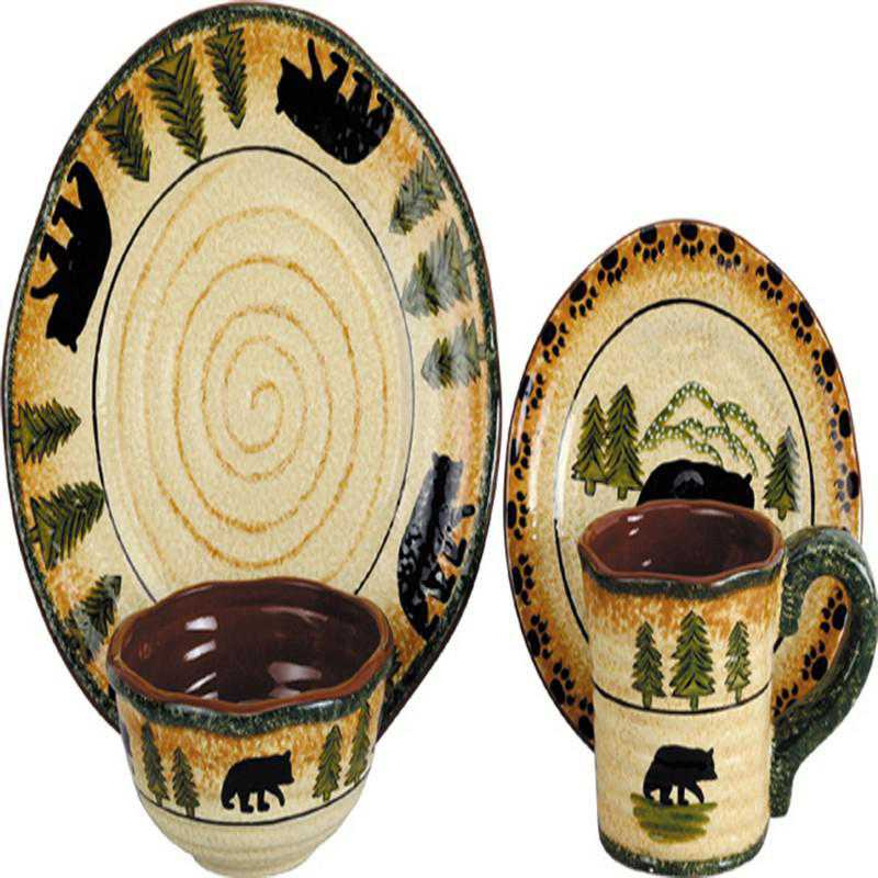 DI1810: HEA 16 PC Bear Dinnerware Set