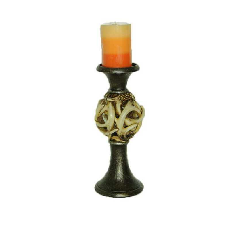 LD6012: HEA Antler Ball Pilar Candle Holder
