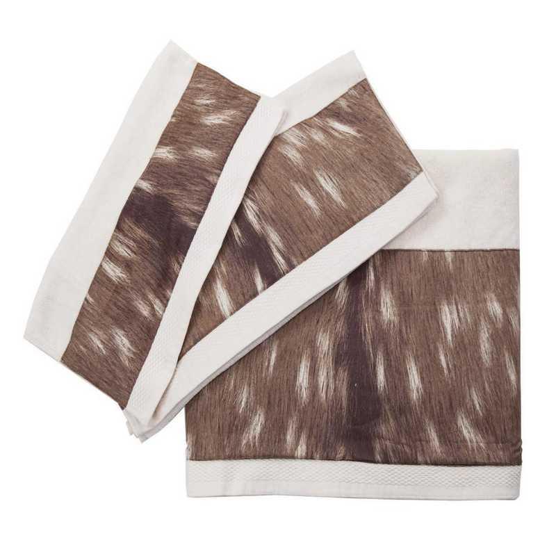 TL1731-OS-CR: HEA 3pc Axis Towel Set - Cream