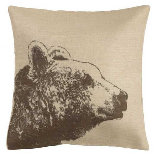 PL1801: HEA Bear Burlap Pillow - 22x22