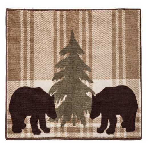 BL1812: HEA Bear Plaid Rug - 24x36