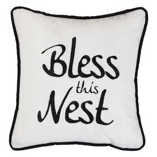 FB1776P4: HEA Blackberry Bless This Nest Pillow - 18x18
