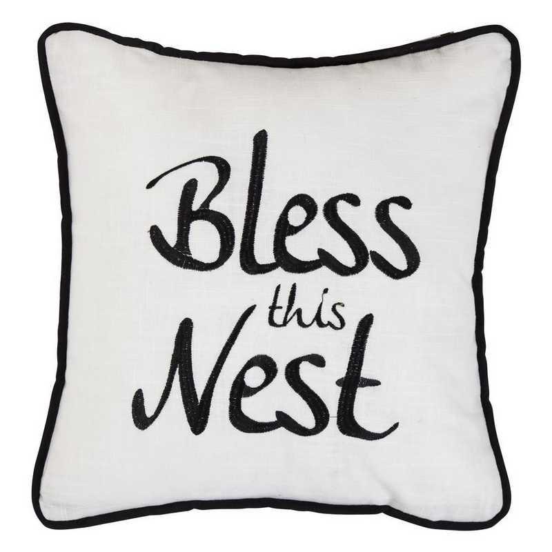 FB1776P4: HEA Blackberry Bless This Nest Pillow - 18x18