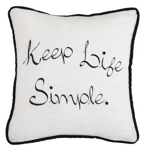 FB1776P5: HEA Blackberry Keep Life Simple Pillow - 18x18