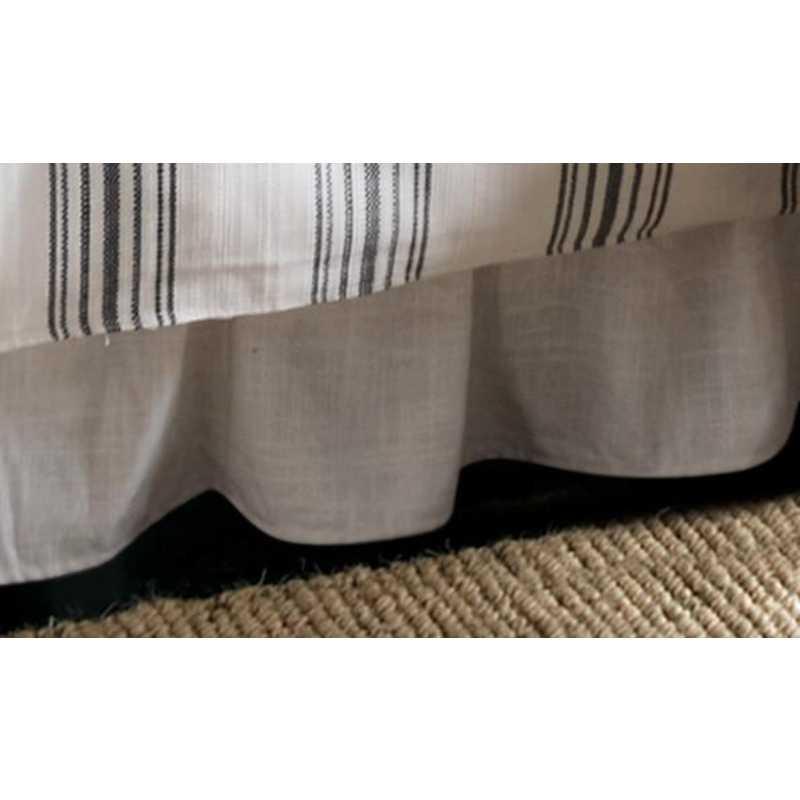 FB1776BS-QN-OC: HEA Blackberry White Linen Bedskirt