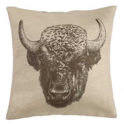 PL1802: HEA Buffao Burlap Pillow - 22x22