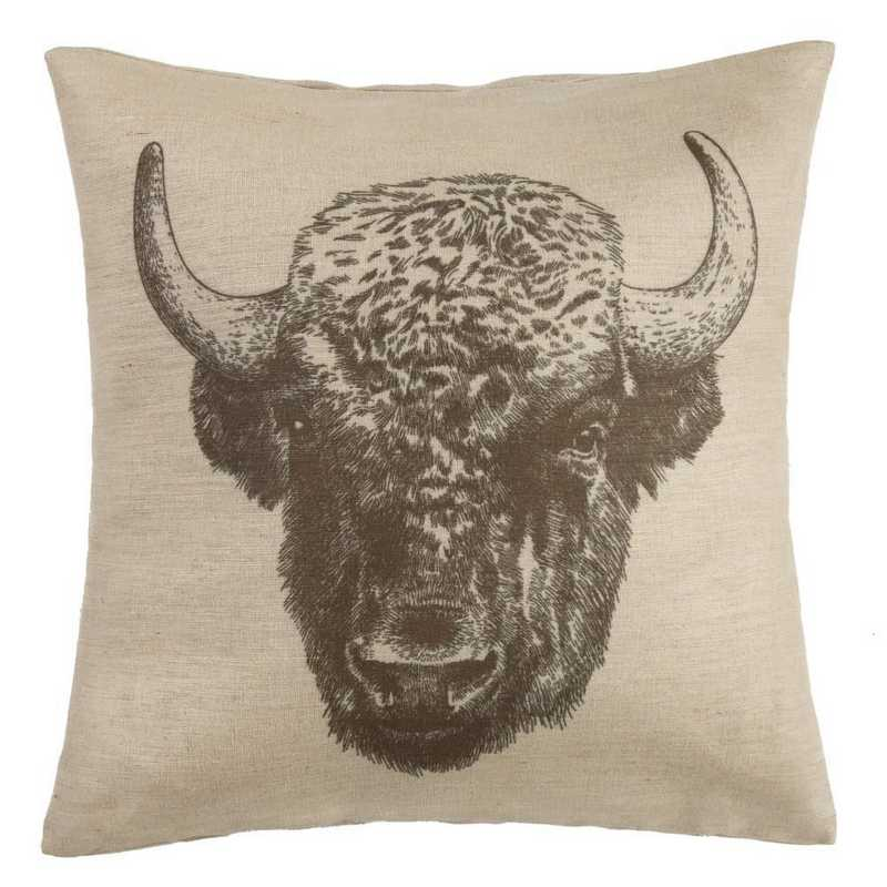 PL1802: HEA Buffao Burlap Pillow - 22x22