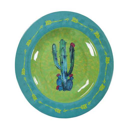 DI1756SL04: HEA 4pc Cactus Design Melamine Salad Plate