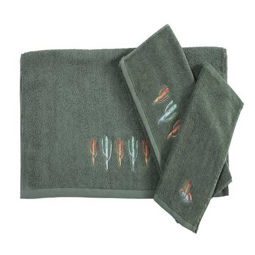 TW1756-OS-TQ: HEA 3pc Cactus Towels - Turquoise