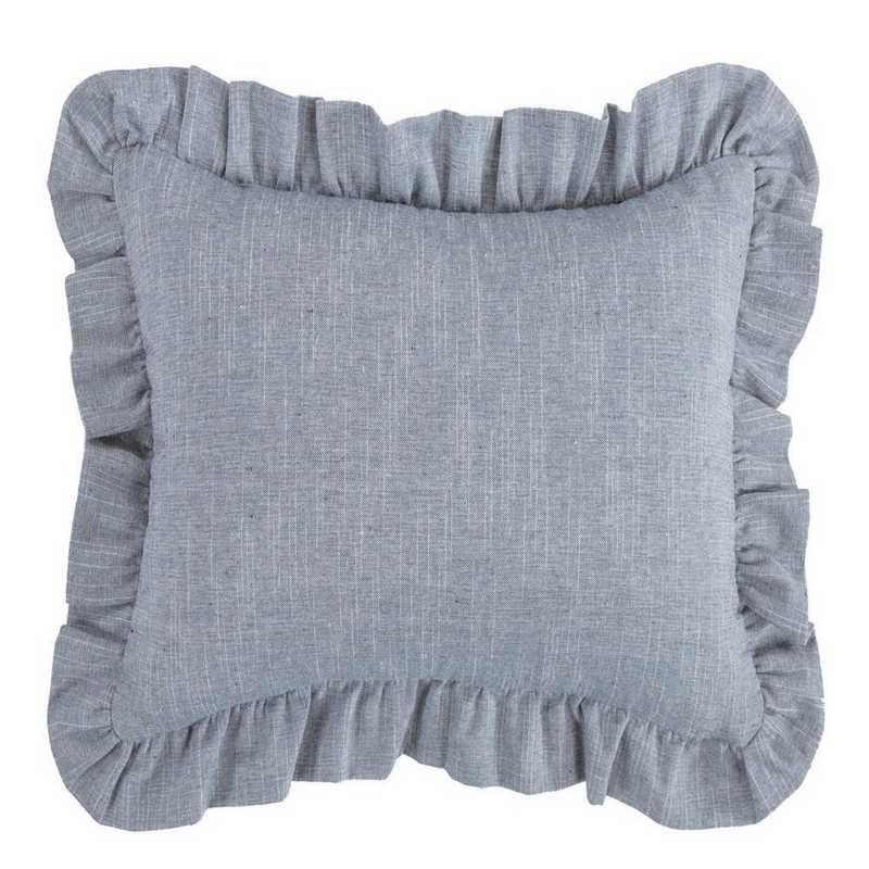 FB1751P1: HEA Chambray Ruffled Pillow