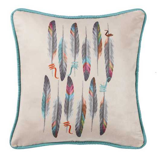 WS1753P1: HEA Feather Design Pillow 18x18