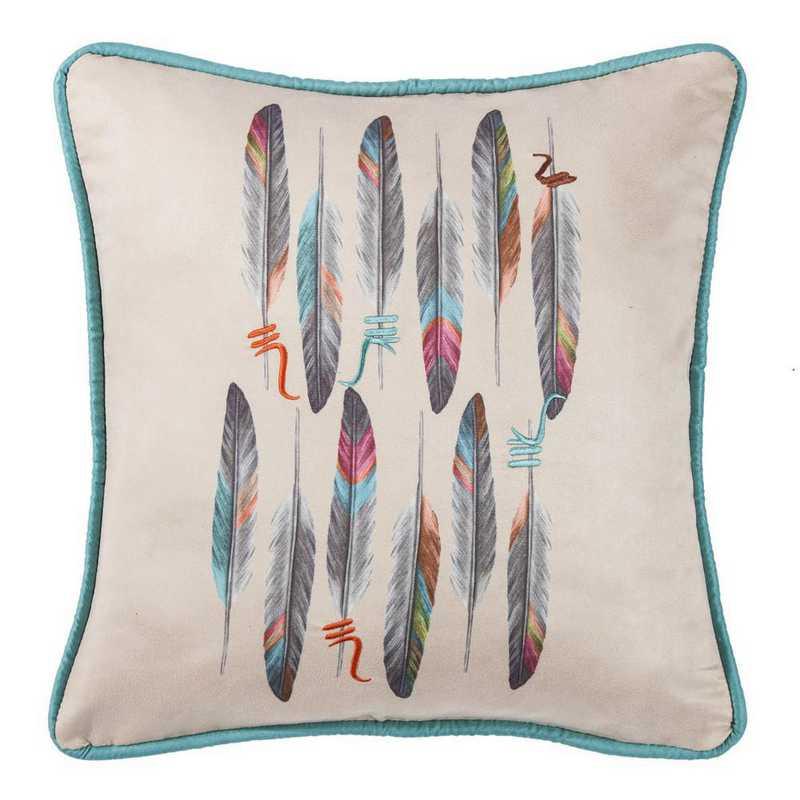 WS1753P1: HEA Feather Design Pillow 18x18